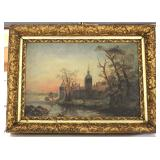 19TH Century Oil on Canvas in Original Gilt Frame Located Inside - Auction Estimate