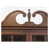 ANTIQUE 16 Pane 2 Door Mahogany Corner Cabinet Located Inside - Auction Estimate $400-$800