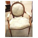Medallion Back French Style Arm Chair Located Inside - Auction Estimate $100-$300