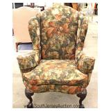 CONTEMPORARY Ball and Claw Chippendale Style High Back Wing Chair Located Inside