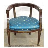 ANTIQUE French Empire Chair with Applied Bronze Located Inside - Auction Estimate $100-$300