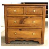 SOLID Maple 2 Over 2 Bedside Stand Located Inside - Auction Estimate $50-$100ption