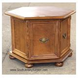 "Cherry Octagon Stand by ""Ethan Allen Furniture"" Located Dock - Auction Estimate $50-$100"
