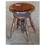 ANTIQUE Glass Ball and Claw Swivel Piano Stool Located Dock - Auction Estimate $20-$50