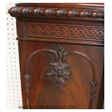 - BEAUTIFUL - Mahogany Chippendale Style 2 Piece Breakfront Located Inside - Auction Estimate $200-$