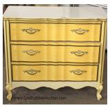 DECORATIVE 3 Drawer French Low Chest Located Dock - Auction Estimate $50-$100