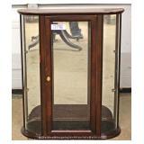 CONTEMPORARY Mahogany Floor Curio Located Dock - Auction Estimate $10-$20