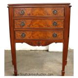 -- NICE – Burl Mahogany 3 Drawer Spade Footed Server Located Inside - Auction Estimate $100-$200