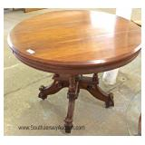 ANTIQUE Walnut Victorian Table Located Inside - Auction Estimate $100-$300