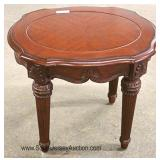 3 Piece Contemporary Inlaid and Banded Living Room Table Set Located Inside - Auction Estimate $100-