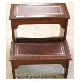 Mahogany Leather Top Library Steps Located Inside - Auction Estimate $50-$100