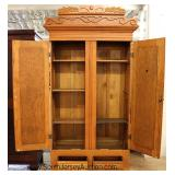 ANTIQUE Oak 2 Door Wardrobe Located Inside - Auction Estimate $200-$400