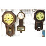 LARGE Selection of Clocks Including Mantles, Regulators, Banjo Styles and Others Located Inside - Au