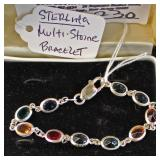 STERLING Colored Stone Bracelet Located Inside - Auction Estimate $10-$20