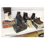 Selection of New in Boxes Riding and Other Boots and Shoes and More