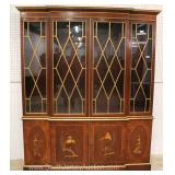 "BEAUTIFUL 2 Piece Mahogany 4 Door China Cabinet by ""Baker Furniture Limited Edition""  Located Insid"