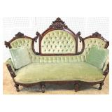 "ANTIQUE SOLID Walnut Victorian Sofa by ""John Jelliff""  Located Inside – Auction Estimate $1000-$200"