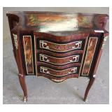 French Style 3 Drawer Paint Decorated Server with Applied Bronze Located Inside – Auction Estimate $