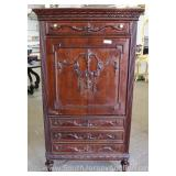 Mahogany Carved French Style Gentlemen Chest Located Inside – Auction Estimate $100-$300