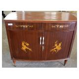 Mahogany French Style Bow Front 2 Drawer 2 Door Inlaid Server Located Inside – Auction Estimate $100