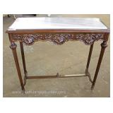 Marble Top Mahogany Carved French Style Console Table Located Inside – Auction Estimate $100-$300