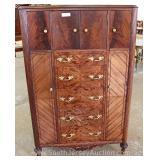 Burl Mahogany French Style Gentlemen Chest Located Inside – Auction Estimate $200-$400