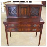 Mahogany Flip Top Tambour Style Desk Located Inside – Auction Estimate $200-$400