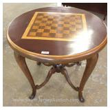 Bench made SOLID Wood Birch, Mahogany, and Chestnut Chess Table Located Inside – Auction Estimate $2
