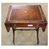 Mahogany Leather Top One Drawer Drop Side Lamp Table Located Inside – Auction Estimate $50-$100