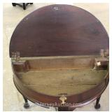 ANTIQUE Mahogany Queen Anne Lift Top Game Table circa 1830's - 1850's Located Inside – Auction Estim