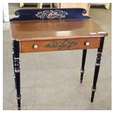 "One Drawer Stenciled Writing Desk by ""Hitchcock Furniture"" Located Inside – Auction Estimate $100-$2"