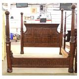 "Mahogany King Size Poster Bed by ""Pulaski Furniture"" Located Inside – Auction Estimate $300-$600"