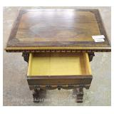 "Oak Carved Lamp Table by ""Kittinger Furniture"" Located Inside – Auction Estimate $50-$100"