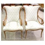 PAIR of Mahogany Frame Upholstered Fireside Chairs Located Inside – Auction Estimate $200-$300