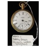 Springfield Illinois Safety Pinion Pocket Watch