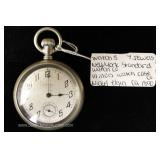 7 Jewels New York Standard Watch Company Elgin Pocket Watch Illinois Watch Case Company circa 1890