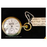 "U.P. Flyer 17 Jewels Silveroid Pocket Watch by ""Marain Watch Company"" circa 1870"