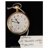"17 Jewel Pocket Watch by ""E. Howard Watch Company"""
