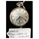 "14 Karat Gold 15 Jewels Pocket Watch by ""Elgin Watch Company"""