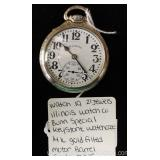 14 Karat Gold Filled 21 Jewels Illinois Bunn Special Motor Barrel Sixty Hour Pocket Watch Keystone W