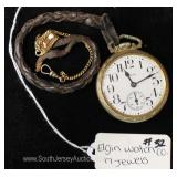 "17 Jewels Pocket Watch by ""Elgin Watch Company"""
