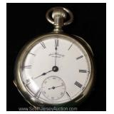 "7 Jewels Silveriod Waltham Pocket Watch by ""American Watch Company"" circa 1887"