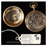 "21 Jewels Pocket Watch by ""Waltham Watch Company"" circa 1901"
