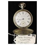 "Silverode 7 Jewels Pocket Watch by ""Seth Thomas"" circa 1904"
