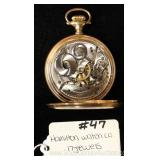 "17 Jewels Pocket Watch by ""Hamilton Watch Company"""