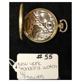 "7 Jewels Pocket Watch by ""New York Standard Watch Company"""