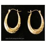 14 Karat Gold Hoop Earrings