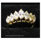 14 Karat Gold Marquise Diamond Cut Ring