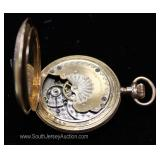 10 Karat Gold 7 Jewel Garden City Pocket Watch circa 1897
