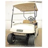 EZ Go 36 Volt Golf Cart with Utility Bed and Charger in Running Condition  Located Inside – Auction